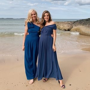 Gal Meets Glam Dresses - GAL MEETS GLAM New $198 Bow One-Shoulder Jumpsuit